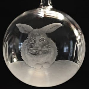 Glaskugel Winterhase