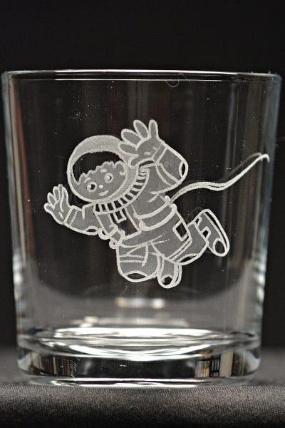 Motivglas Astronaut