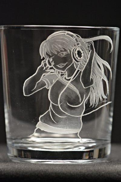 Motivglas Musicgirl