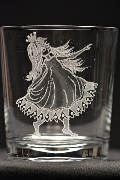 Motivglas Prinzessin