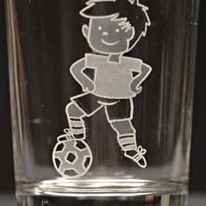 Motivglas Fußballer
