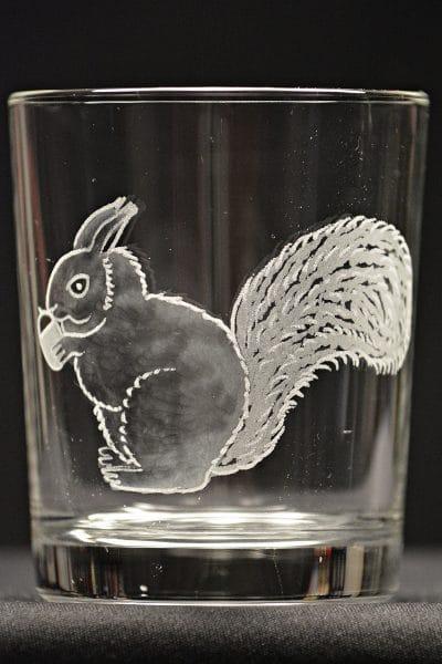 Motivglas Eichhörnchen