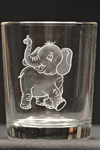 Motivglas Elefant
