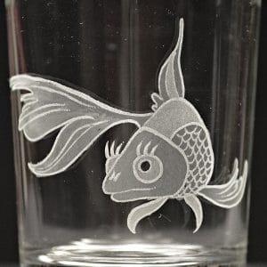 Motivglas Fisch