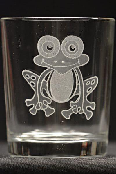 Motivglas Frosch