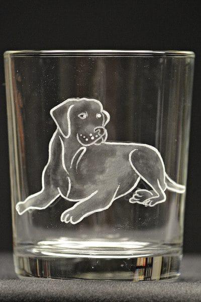Motivglas Hund