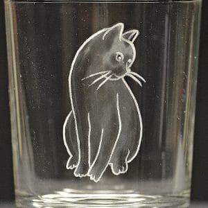 Motivglas Katze