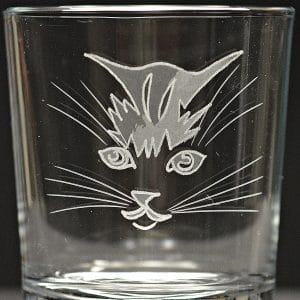Motivglas Katzenkopf