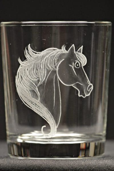 Motivglas Pferdekopf