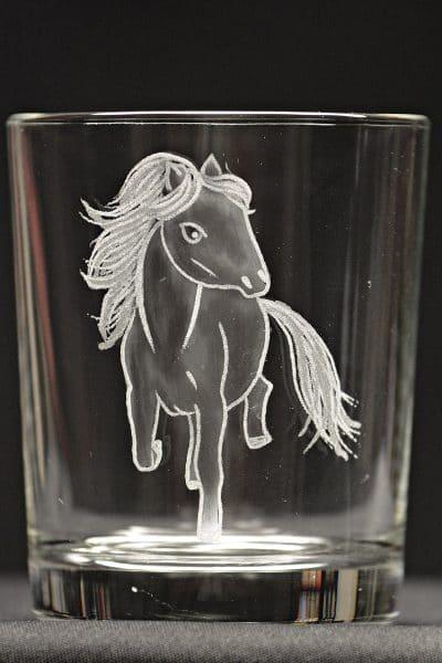 Motivglas Pony