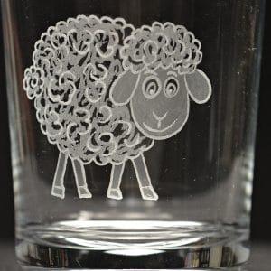 Motivglas Schaf