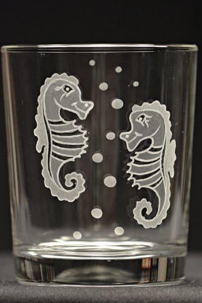 Motivglas Seepferdchen