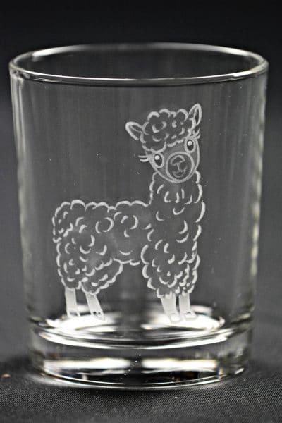 Trinkglas Lama