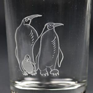 Trinkglas Pinguin