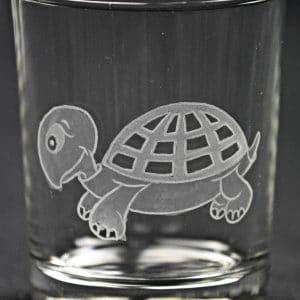 Trinkglas Schildkröte