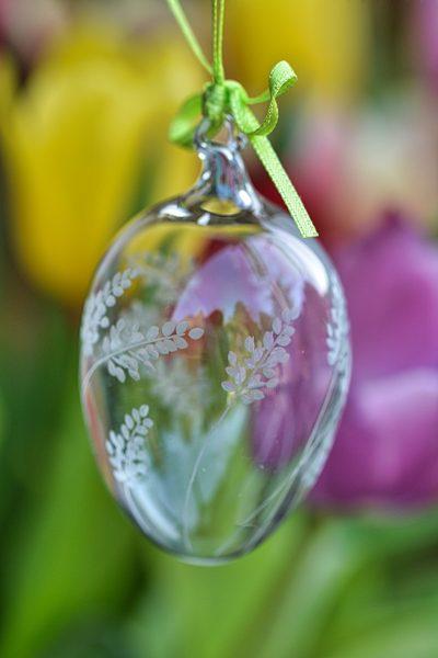 Osterei Glas Lavendel